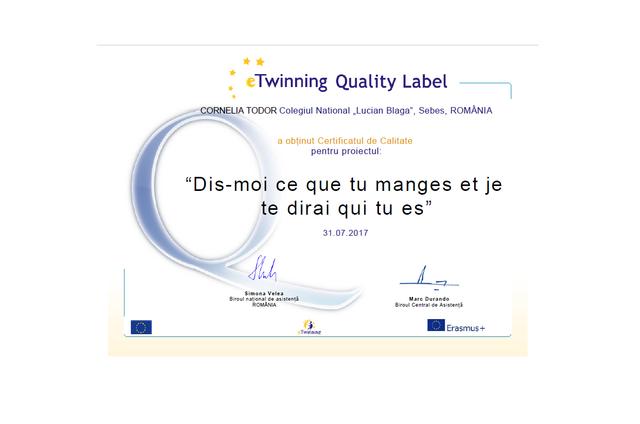 Certificat National de Calitate