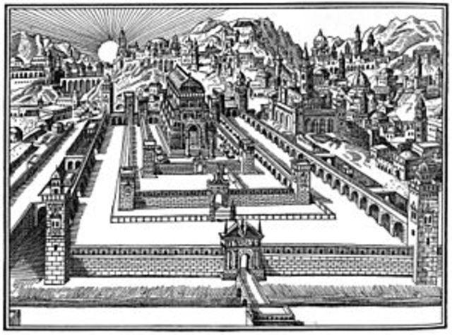 Construcción del gran templo