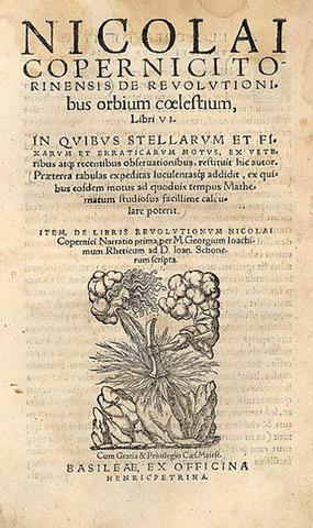 De revolutionibus orbium coelestium (On the Revolutions of the Celestial Spheres)