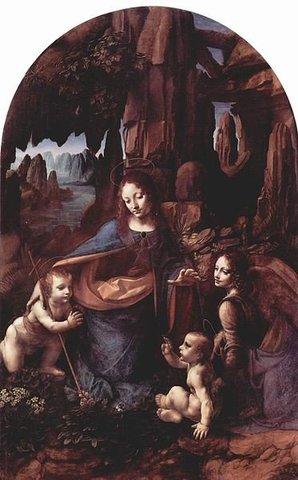Pinta La Virgen de las Rocas