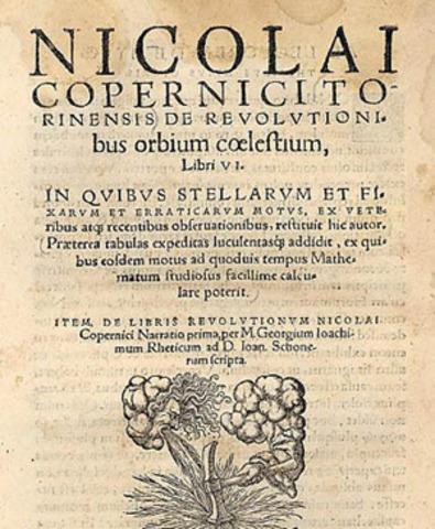 Copernicus's De Revolutionibus Obium Coelestium Published