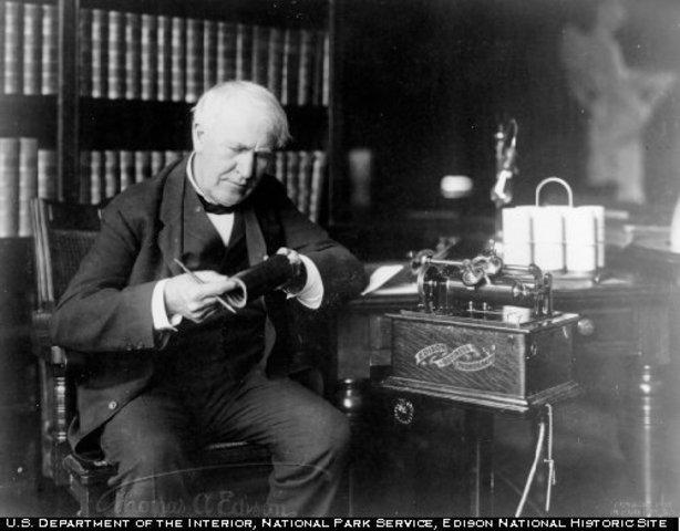 Thomas Edison and his Phonograph