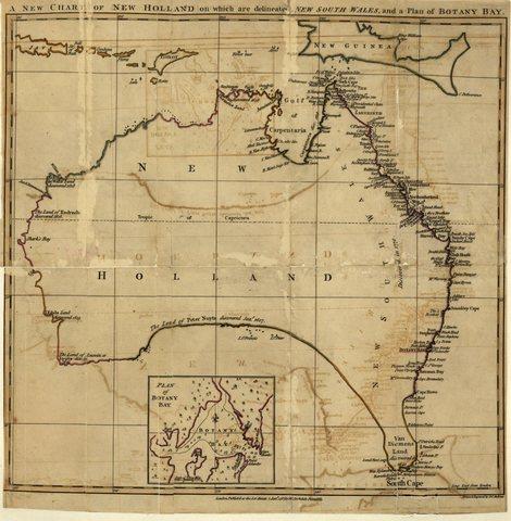 Captain James Cook charts east coast