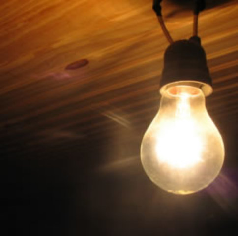 La lampara incandescente