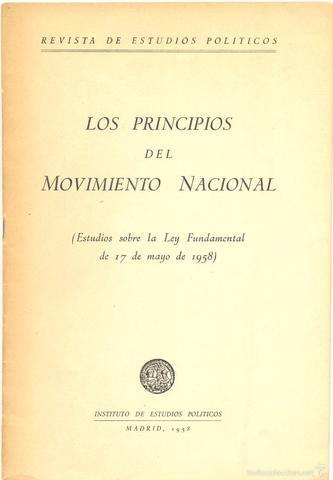 Ley Principios Movimiento Nacional