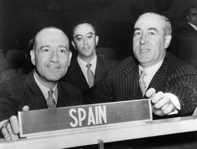 España admitida en la ONU