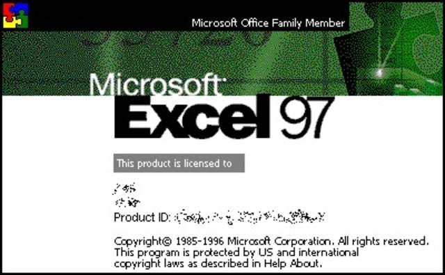 Excel 97 (включен в пакет Microsoft Office 97)