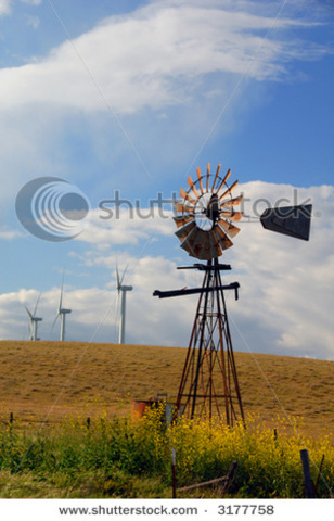 electricity generating windmill