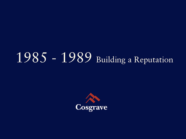 1985 - 1989 Building a Reputation
