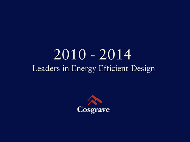 2010 - 2014 Leaders in Energy Efficient Design