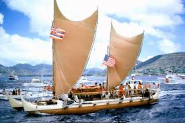 Recreation of the great 10000km sea voyage from Hawaii to Tahiti