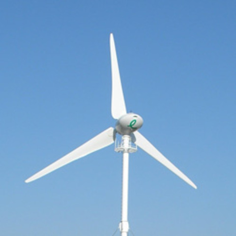 Utility grid connected wind turbine