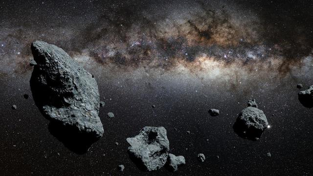 Leftover Debris Forms Asteroids