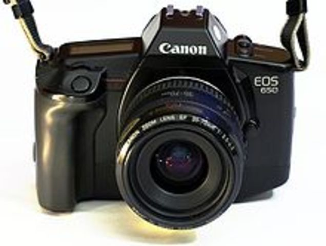 The first canon EOS camera