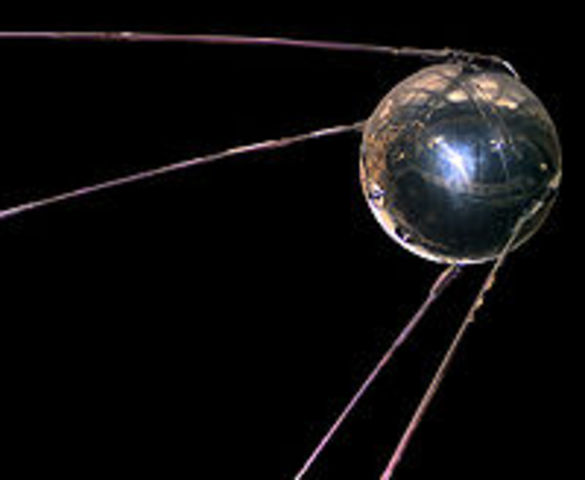 Soviet Satellite Sputnik Launches Space Age