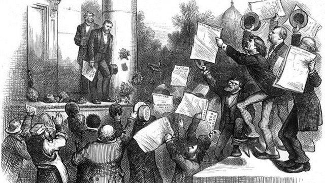 La croissance du XIXe siècle n'a pas été linéaire et continue, mais entrecoupée de nombreuses crises.