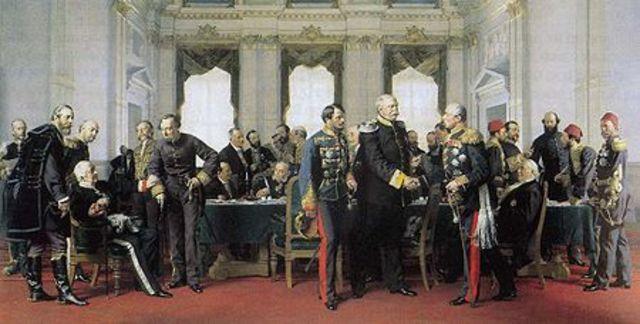 Congrès de Berlin, à l'initiative du chancelier Otto von Bismarck, Britanniques, Français, Allemands, Belges, Portugais et Italiens se sont ainsi partagé l'Afrique, sans qu'aucun représentant africain ne soit consulté.