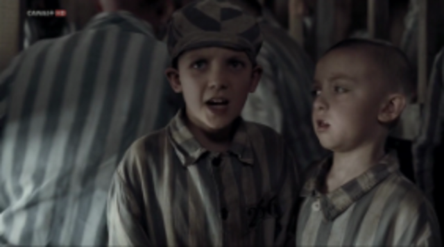 Bruno and Shmuel die in the gas chamber.