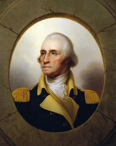 He was inducted as a staff of General Washington at Manhattan.