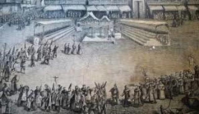 Santa Inquisición en México.