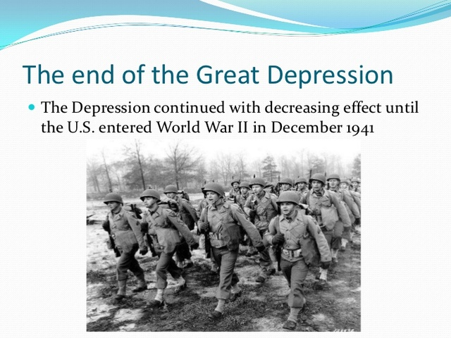 The End of the Great Depression