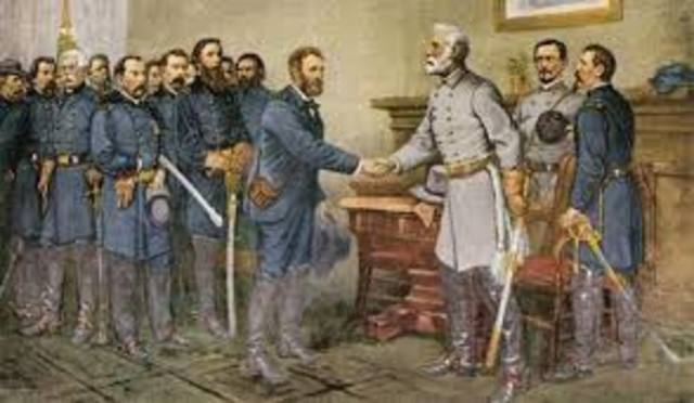 Battle of Appomattox Courthouse (Lee surrenders)