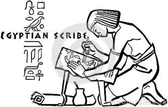 En Egipto, los faraones tenían escribanos los cuales anotaban las entradas, los gastos.