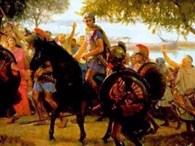 El imperio de Alejandro Magno, su mercado de bienes creció tanto que se extendió hasta Asia Menor.