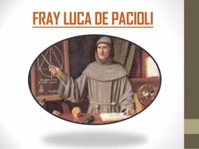 Fray Luca de Paciolo se especializo en teología y matemáticas.