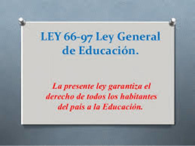 Ley Orgánica de Educación 66-97