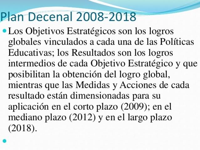 Plan Decenal 2008-2018