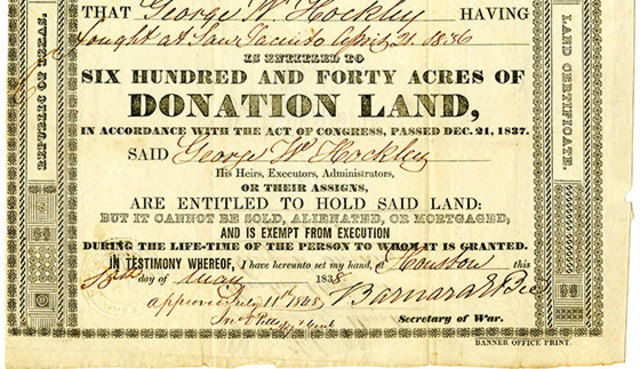 Donation Land Act Finalized