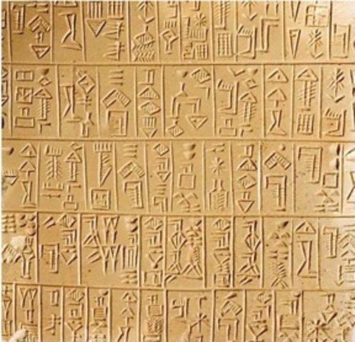 Desarrollo de la Escritura por los Sumerios