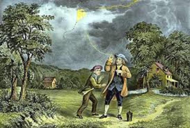 Benjamín Franklin inventa el Pararrayos
