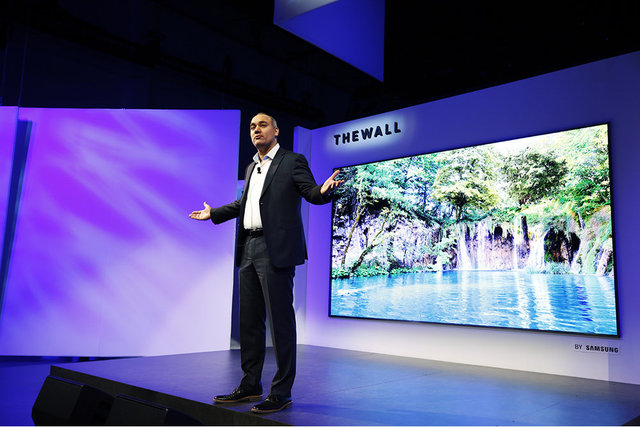 Samsung presenta televisor The Wall