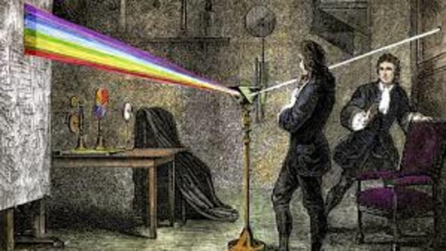 teoria de la luz de isaac newton