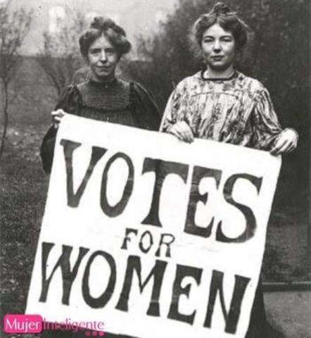 El reconocimiento del derecho al voto femenino