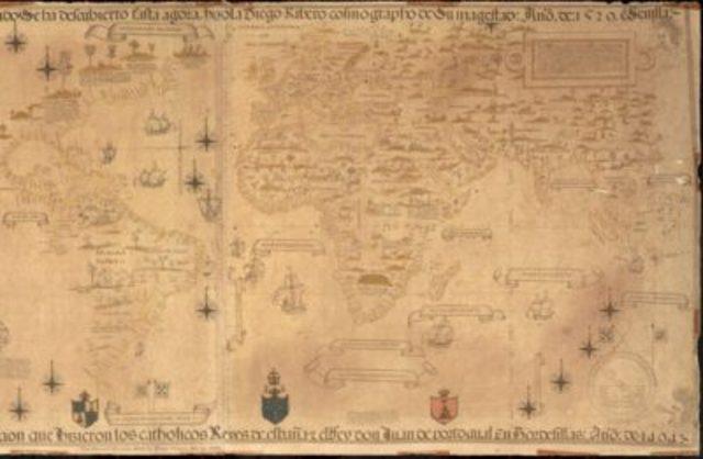 Primer mapa científico del mundo