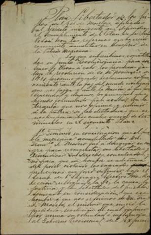 Emiliano Zapata promulga el plan Ayala de con el fin de restituir a los Indios