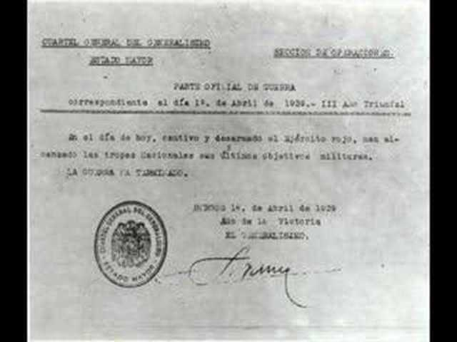 Fi de la Guerra Civil Espanyola