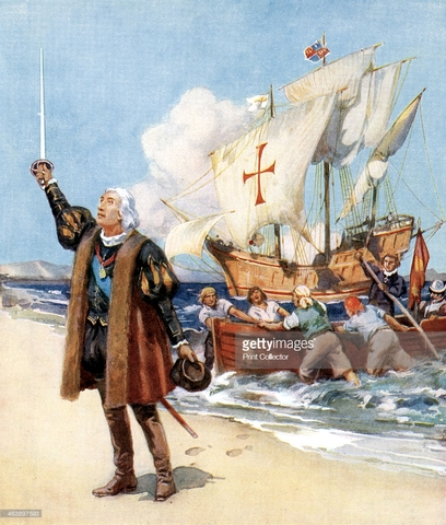 Llegada de Cristobal Colon a America