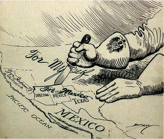 Tratado de Guadalupe Hidalgo firmado.