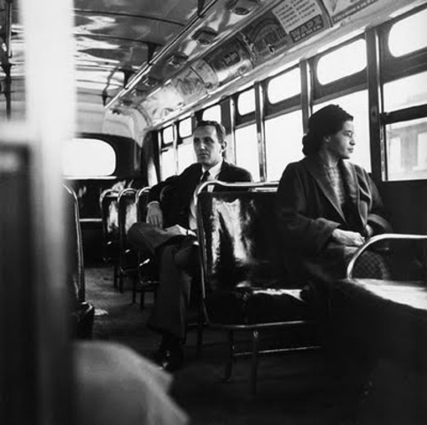 Rosa Parks Refuses to Give Up Her Seat on a Bus
