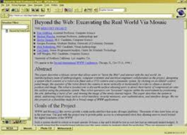 Web browsers: Mosaic