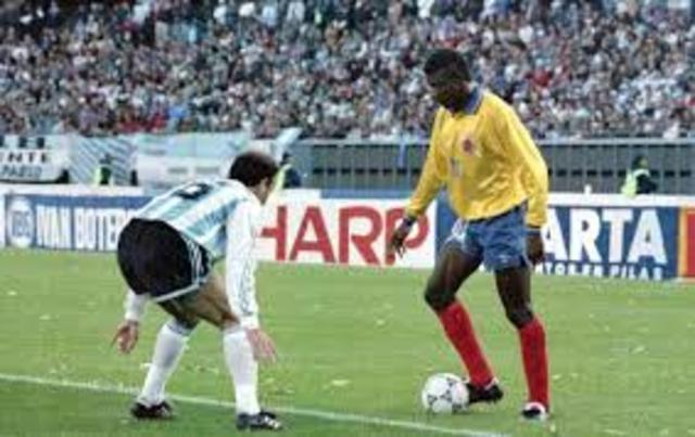 Colombia beat Argentina five goals to zero by the time I was 9.