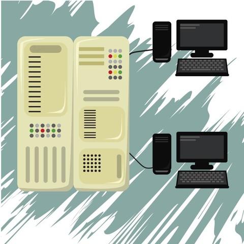 Mainframe y organización centralizada.