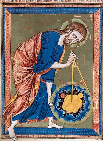 """Миниатюра """"Бог-творец с циркулем в руках"""""""