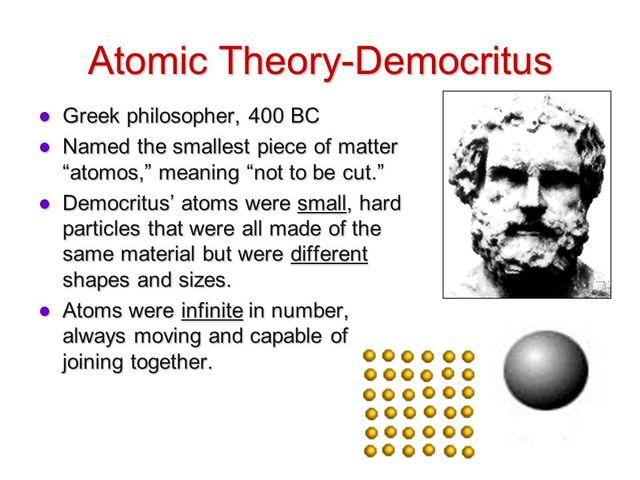 democritus contribution to science