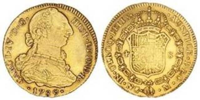 Moneda colonial en Guatemala