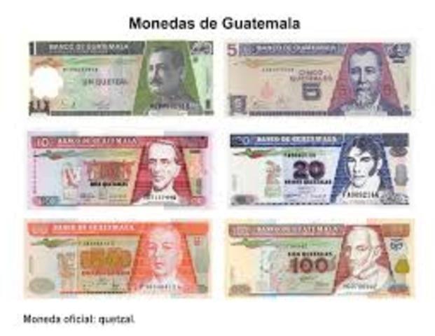 Billetes de 5,10 y 20 Quetzales